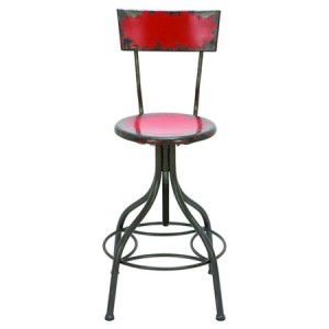 Wickenburg+Barstool+in+Fire+Engine+Red